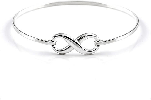 Delicate Silver Infinity Bangle