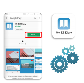 My EZ Diary is an excellent example of the App from Mobile Digital Insights