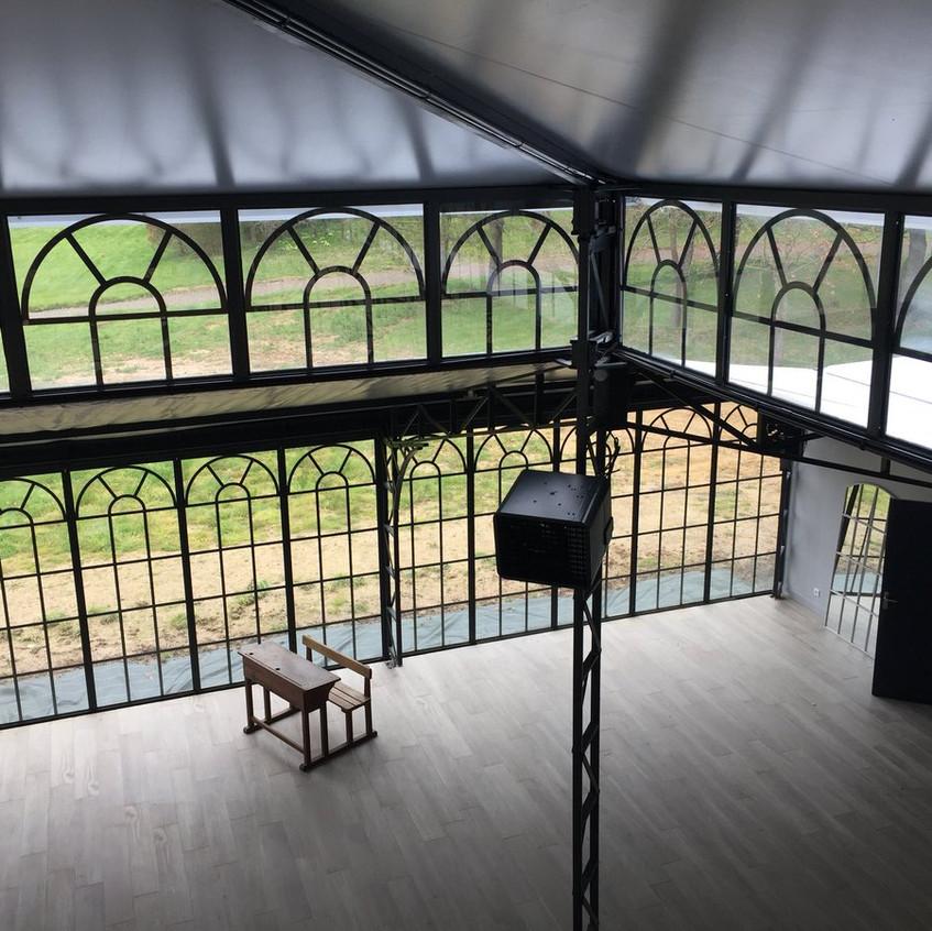 Orangeraie_Chateau_de_l'établiére_Orangerie_double_toit_en_acier_et_verre__