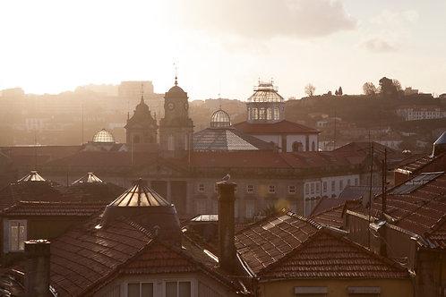 Vu sur les toits de Porto (80x120 cm)
