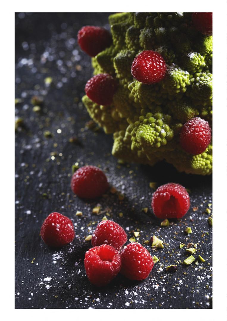 Choux Romanesco et Framboises, Un dessert ou pas ?