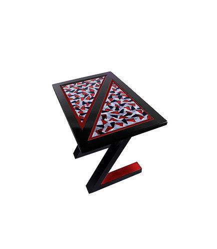 design end table designer furniture colorful steel wood stainless architecture geometric  high end