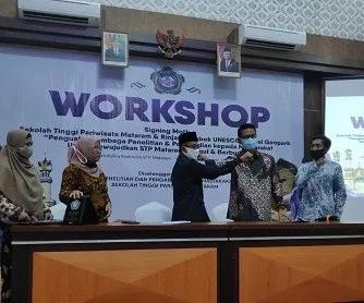 STP Mataram Jalin MoU dengan Rinjani Lombok UNESCO Global Geopark