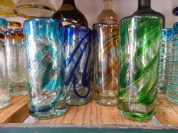 color swirl shot glasses