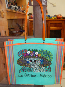 Catrina recycled bag with decoration
