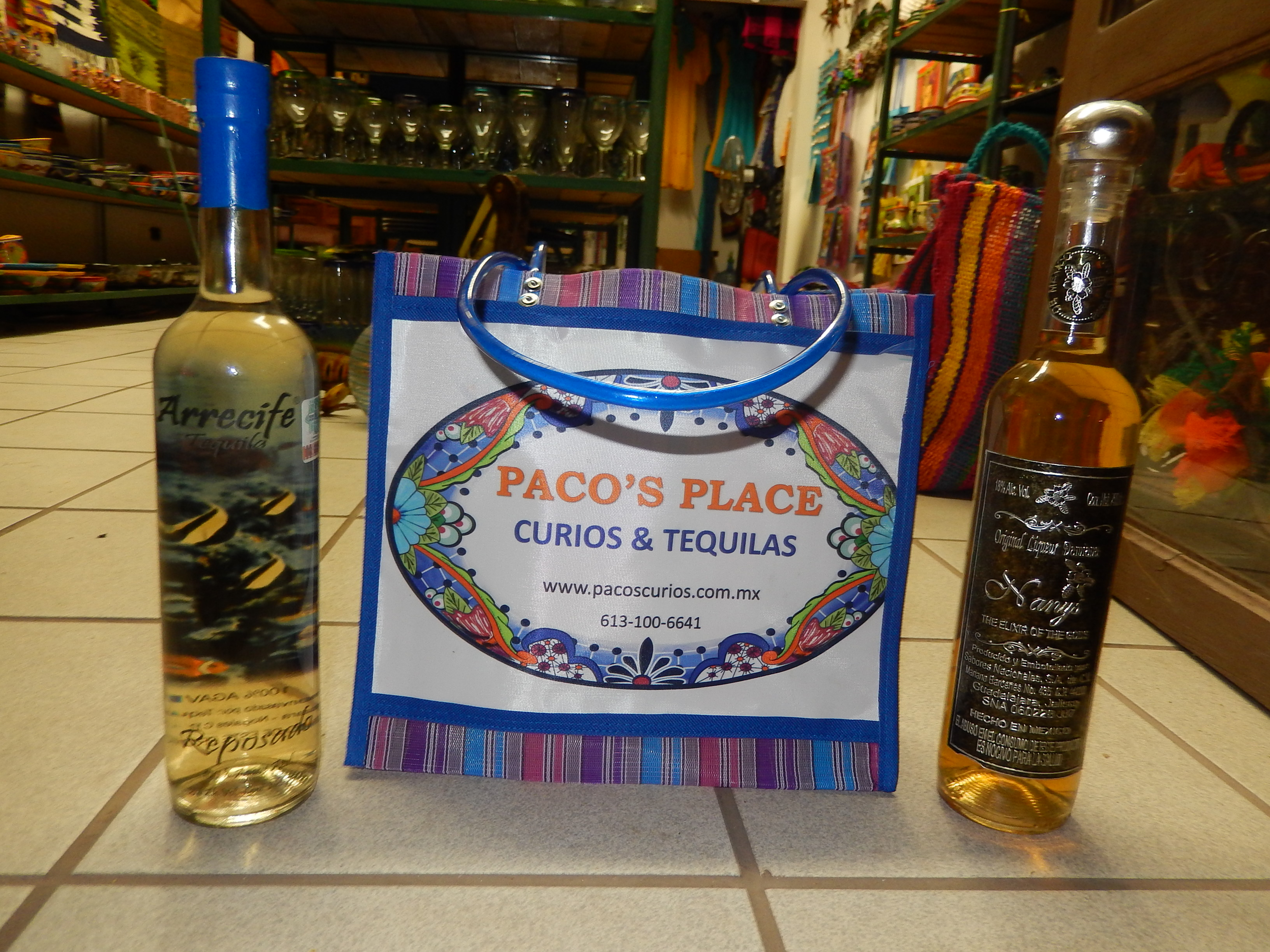 Paco's Place bag w/ tequila purchase