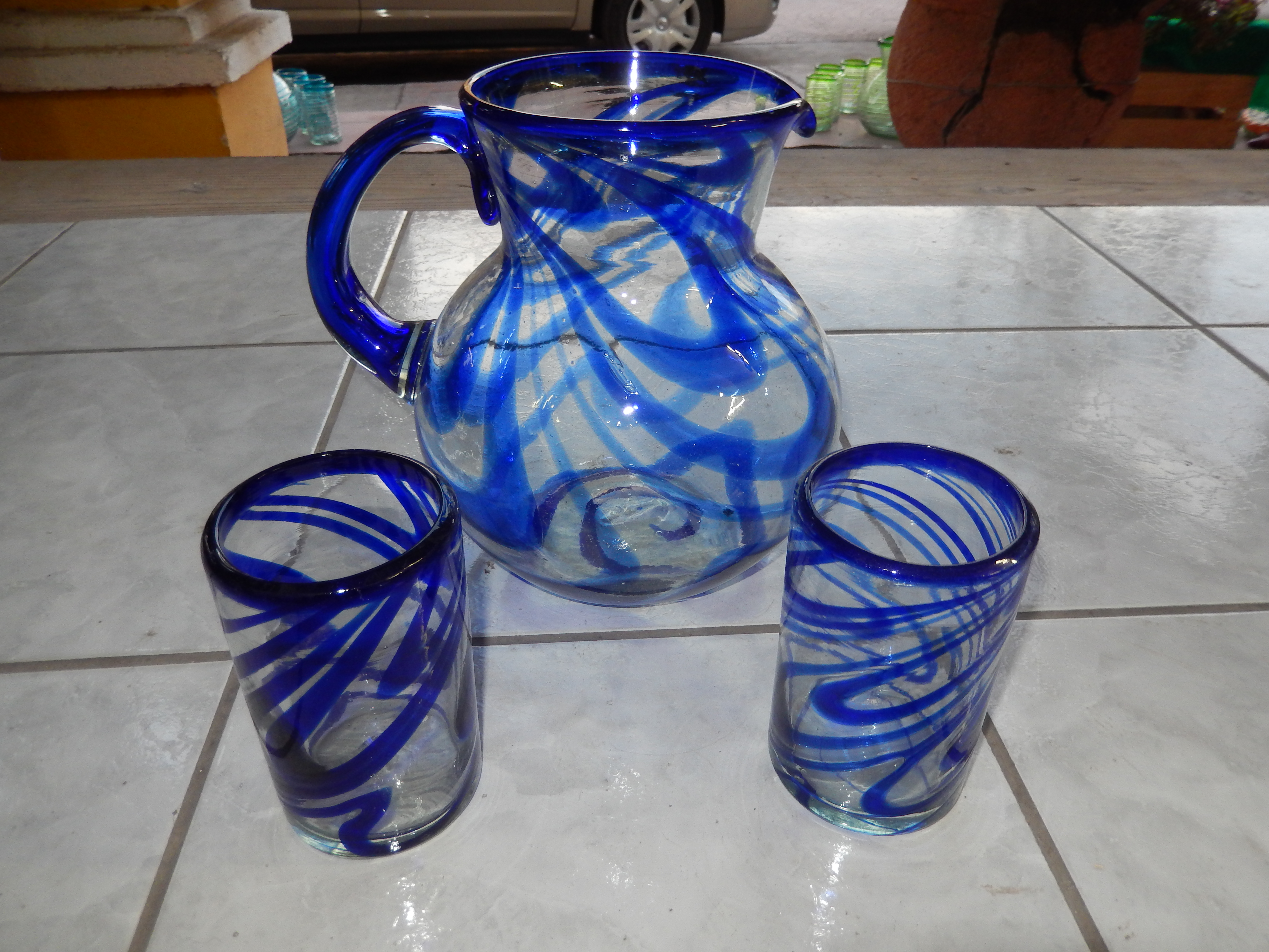 Pitcher and glass sets