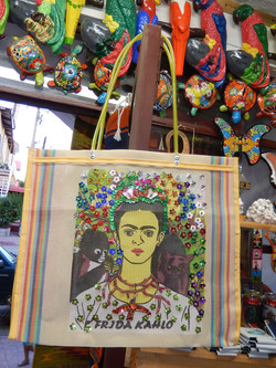 Recycled plastic bag decorated