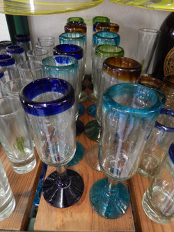 Stemmed shot glasses