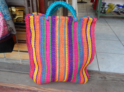 recycled woven bag - extra large