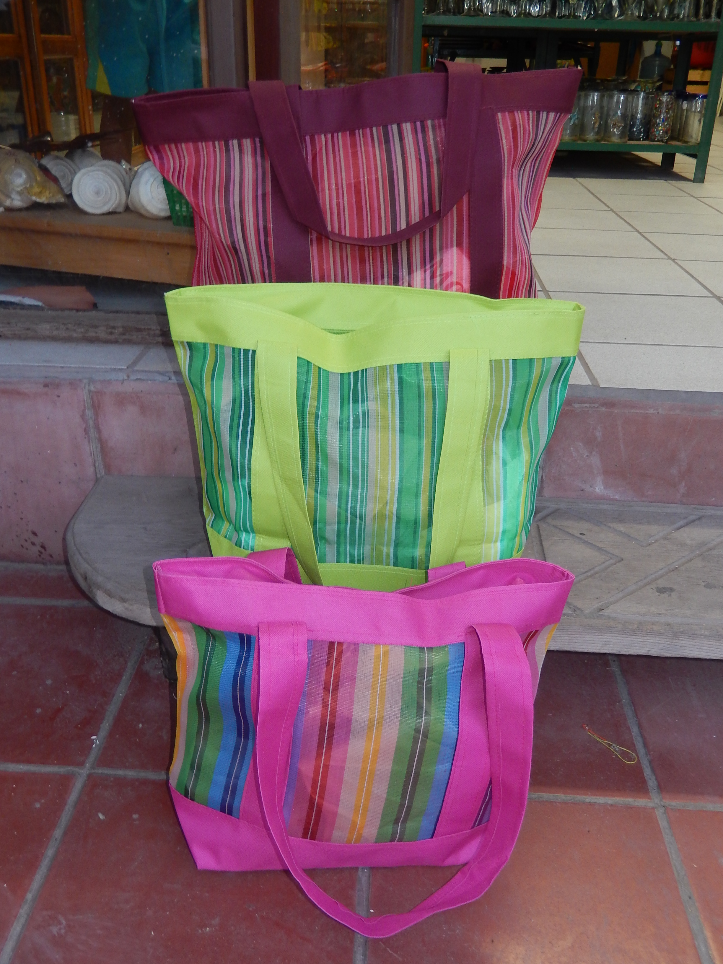 Recycled plastic & cloth zipper bags