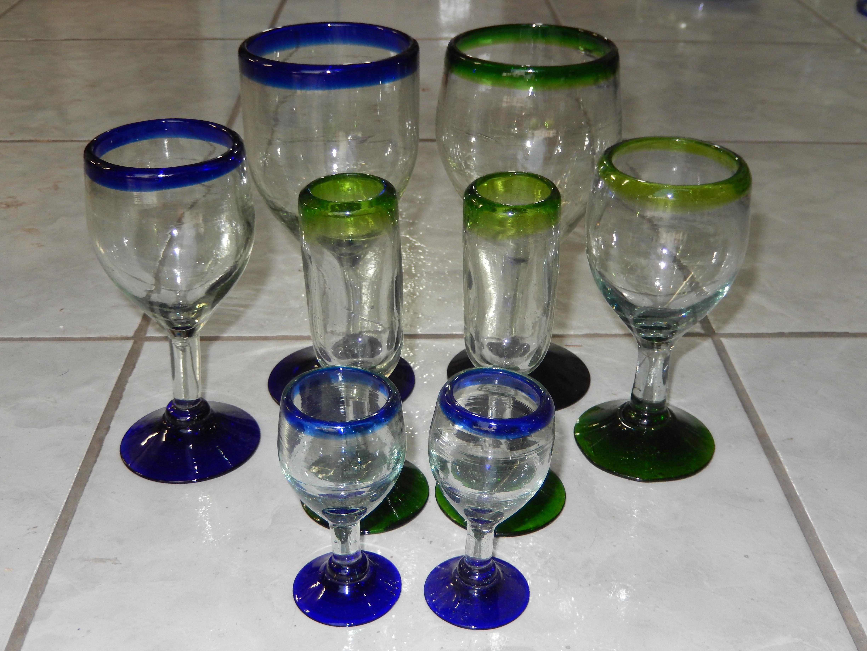 Wine and unique shot glass design