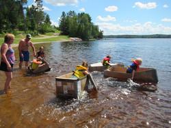 Kids Cardboard Boat Race