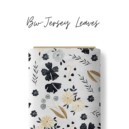Bw-Jersey Leaves