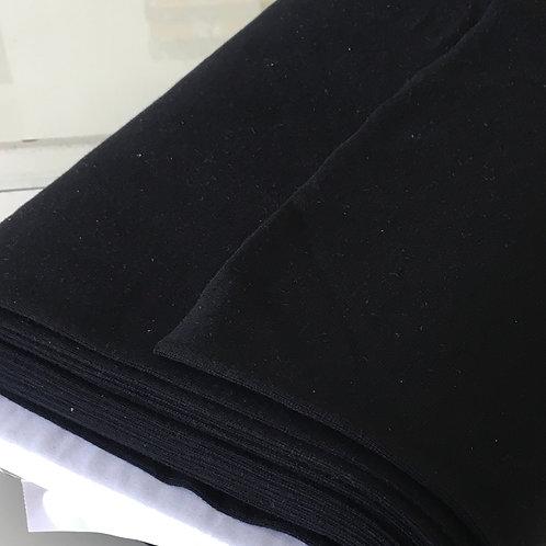 Feinstrick Bündchen schwarz
