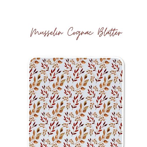 Musselin Blätter Cognac