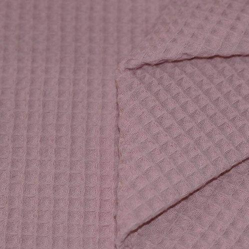 Waffelpiqué  Old Pink