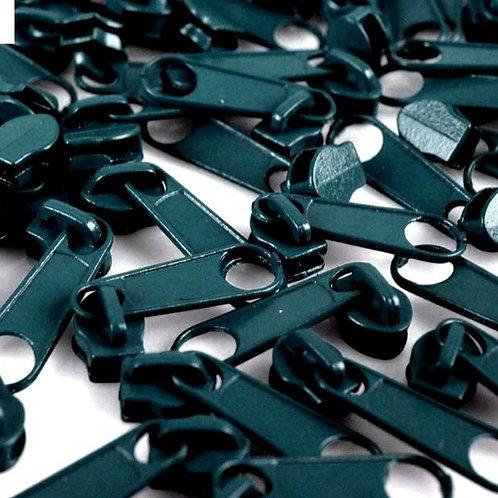 Schieber Zipper zu Spirale Reißverschlüssen 3 mm für Meterware Mosaik Blue