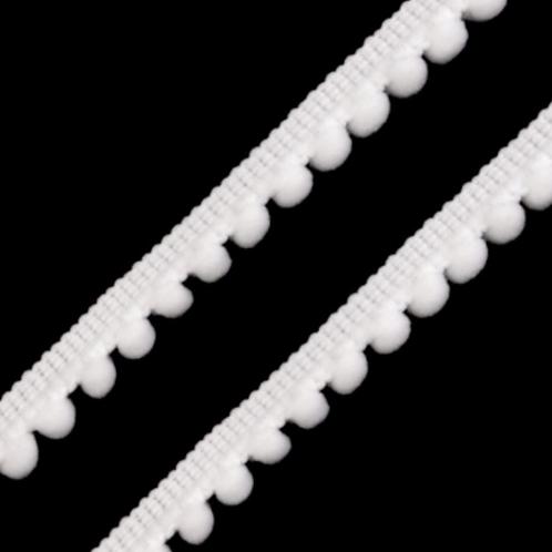Pompon–Borte weiß