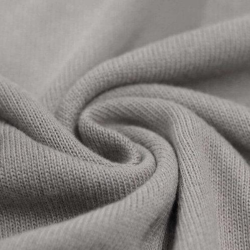 Strickstoff, Baumwolle Grau