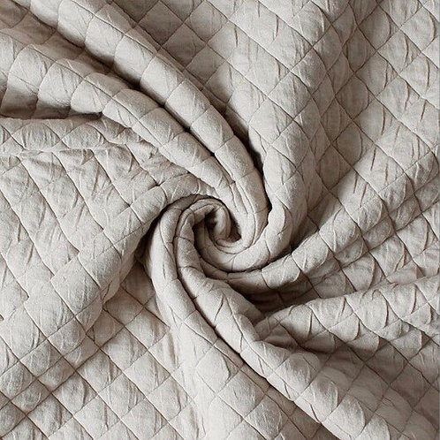 Jacquard-Stepp Jersey beige