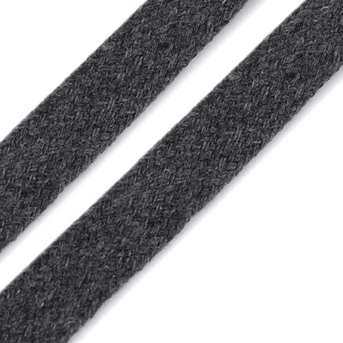 Kordel flach grau 15mm