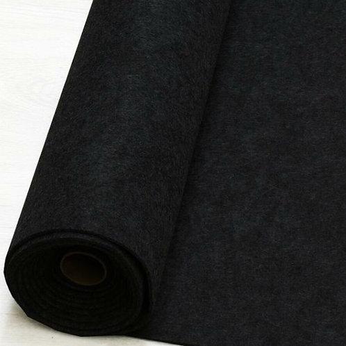 Filz schwarz meliert 3mm