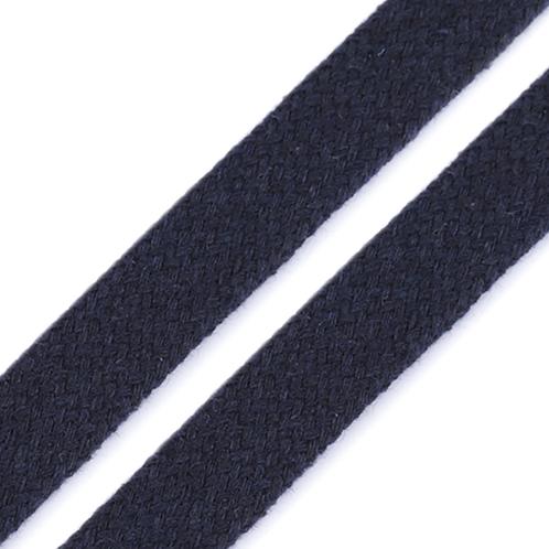 Kordel flach dunkelblau 15mm