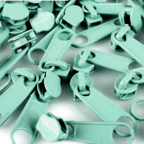 Schieber Zipper zu Spirale Reißverschlüssen 3 mm für Meterware Aqua