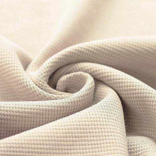 Waffelstrick Jersey beige
