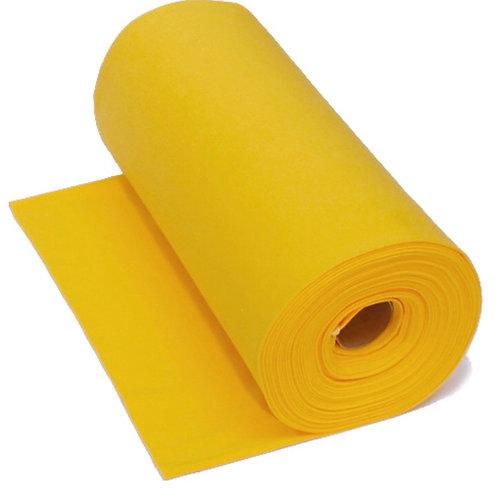 Feinstrick-Bündchen gelb Uni
