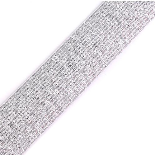 Gummiband Lurex weiß 27mm