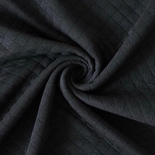 Jacquard-Stepp Jersey schwarz