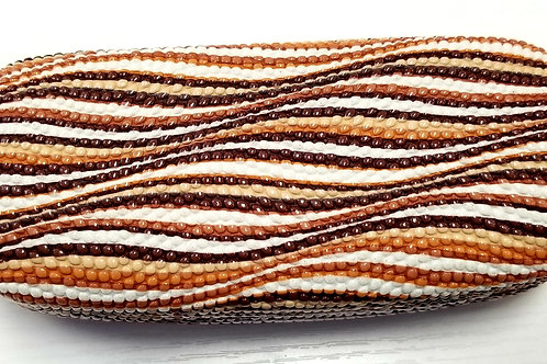 Glasses Case - Brown & White