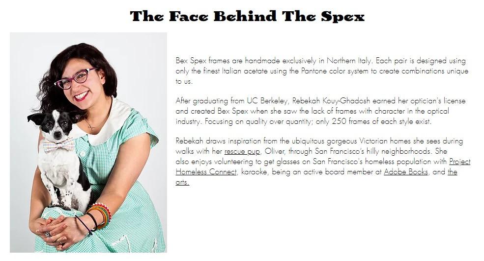 Bex Spex, Spectacular Spectacles