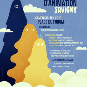 Poster for the Animation Film Festival of Savigny 2018