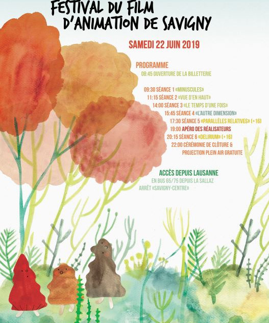 Poster for the Animation Film Festival of Savigny 2019