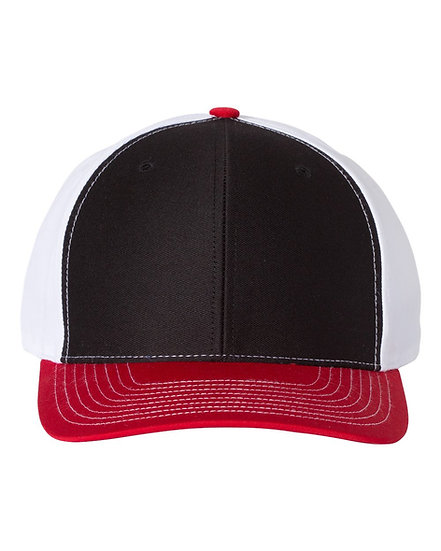 Stars Baseball Flex Fit Cap (Black/White/Red Tri)