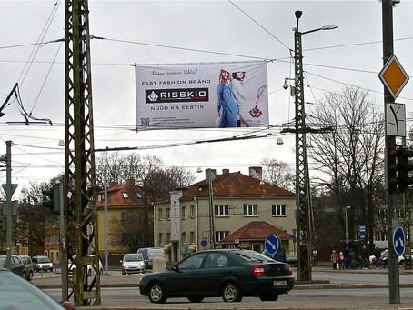 Наши модели на билборде в центре Таллина