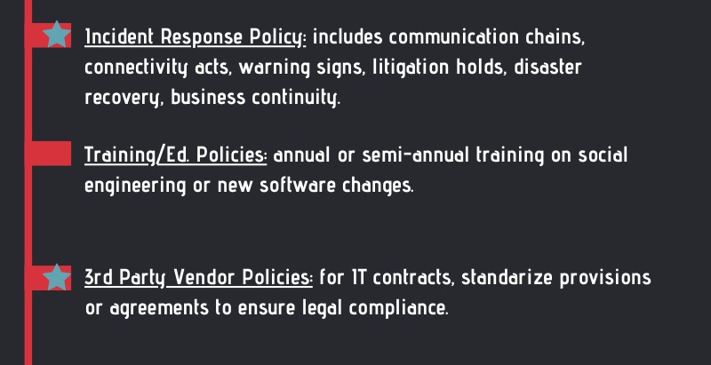 """10 """"MUST HAVE"""" Cybersecurity Policies for Every Business"""
