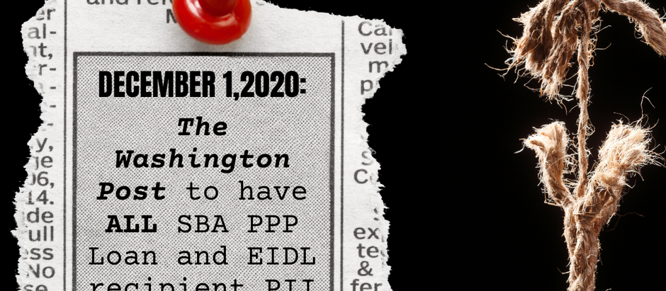 DECEMBER 1, 2020: WAPO WILL KNOW ALL PPP & EIDL LOAN RECIPIENTS