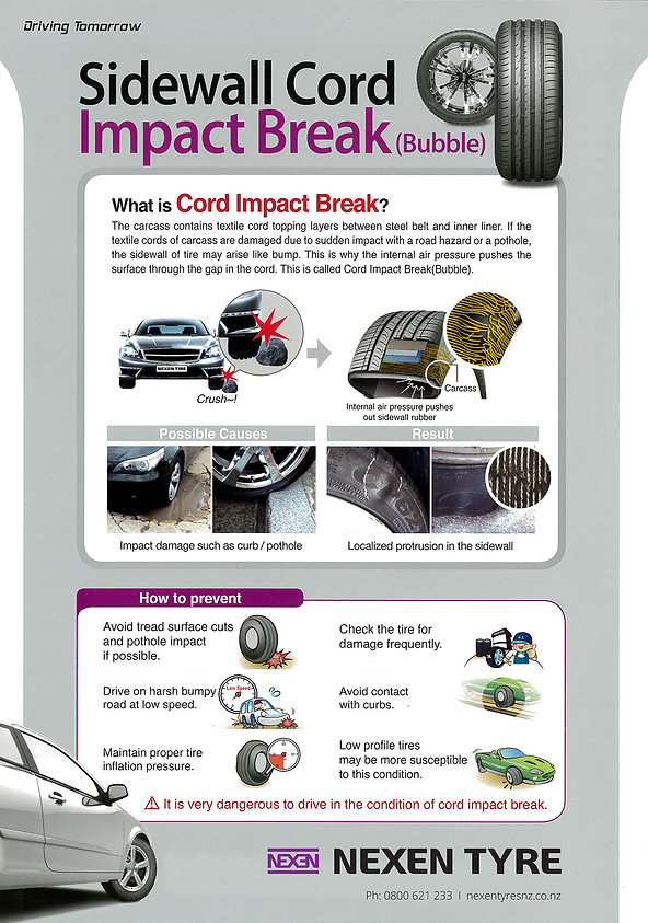 Nexen Sidewall Cord Impact Break