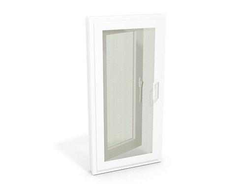 หน้าต่างบานเปิดเดี่ยว พร้อมมุ้งลวดบานเปิด