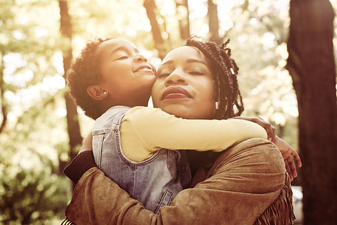 African American mother and her daughter