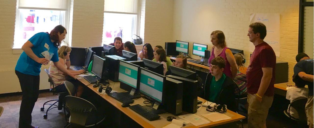 Students using mathspring.org