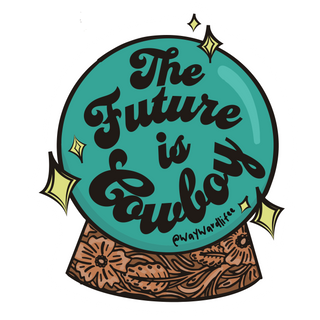 The Future Is Cowboy Sticker