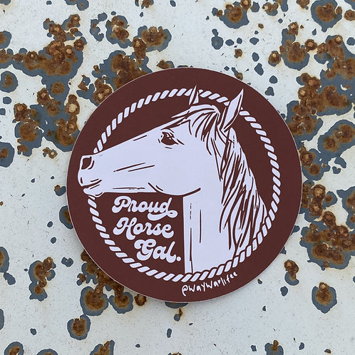 Proud Horse Gal (Red) Sticker