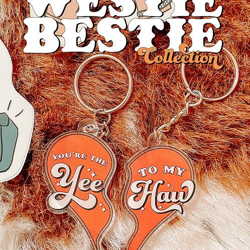 Yee to my Haw Keychain Set