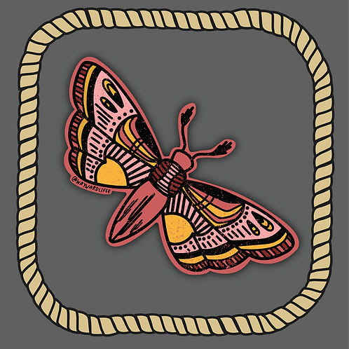 Desert Moth Sticker