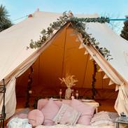 Beautiful boho emperor tent